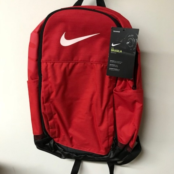f55aadcbd5 NWT Nike Brasilia Training Red Backpack XL BA5331